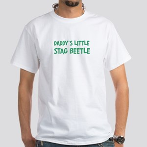 Daddys little Stag Beetle White T-Shirt