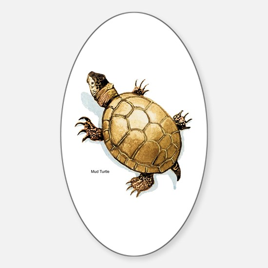 Mud Turtle Oval Decal