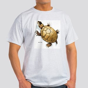 Mud Turtle (Front) Ash Grey T-Shirt
