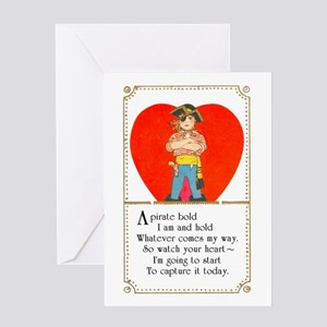 Pirate vintage greeting cards cafepress pirate valentine greeting card m4hsunfo