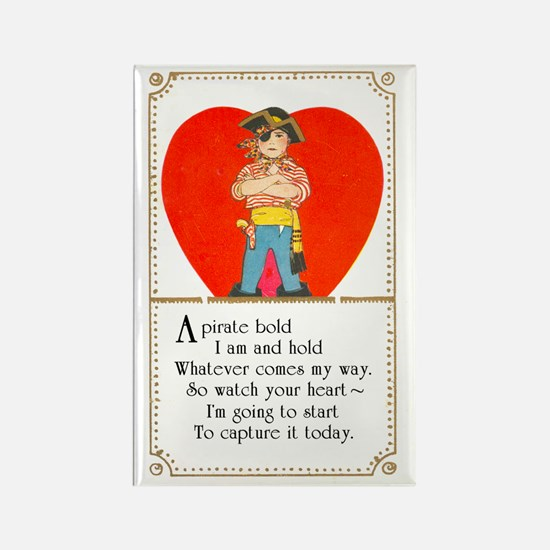 Pirate Valentine Rectangle Magnet