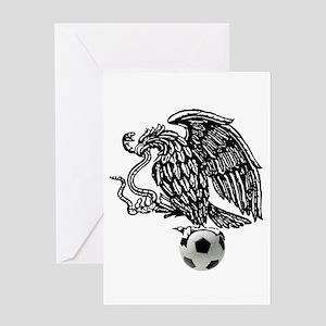 Mexican Football Eagle Greeting Card