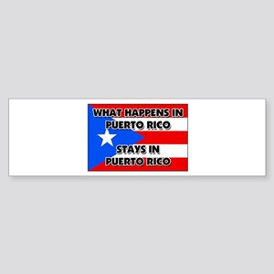 What Happens In PUERTO RICO Stays There Sticker (B