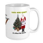 Masonic Santa Faith On the Square Large Mug