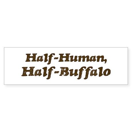 Half-Buffalo Bumper Sticker