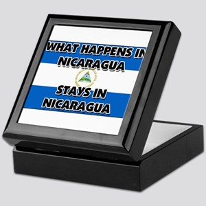 What Happens In NICARAGUA Stays There Keepsake Box