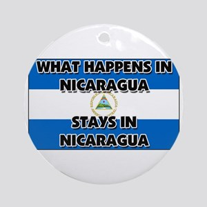 What Happens In NICARAGUA Stays There Ornament (Ro