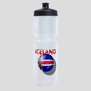 Iceland Football Sports Bottle