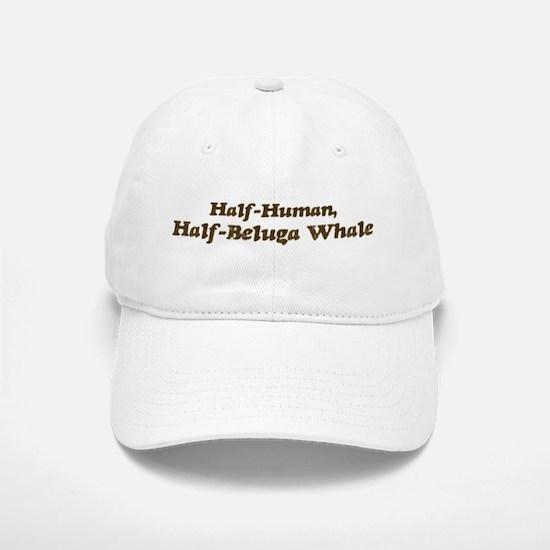 Half-Beluga Whale Baseball Baseball Cap