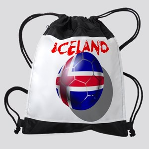 Iceland Football Drawstring Bag
