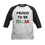 Proud to be Italian Kids Baseball Jersey