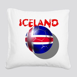 Iceland Football Square Canvas Pillow