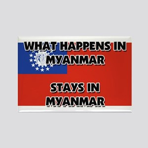 What Happens In MYANMAR Stays There Rectangle Magn