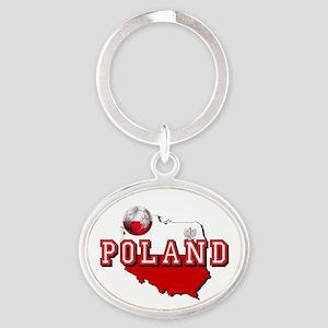 Polish Flag Map Keychains