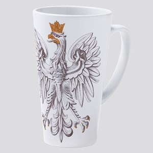 White Eagle Of Poland 17 Oz Latte Mug