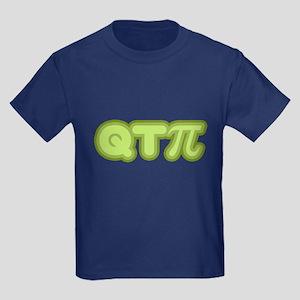 Q T Pi (green) Kids Dark T-Shirt