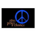 Give Peace a Chance - Blue & Orange Sticker (R