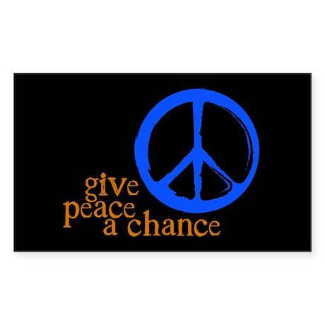Give Peace a Chance - Blue & Orange Sticker (R