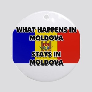 What Happens In MOLDOVA Stays There Ornament (Roun