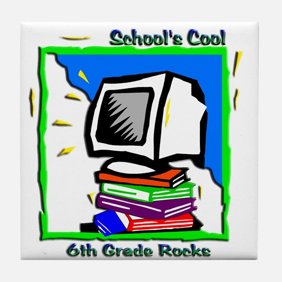 PC & Books 6th Grade Tile Coaster