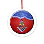 Masonic S&C Holiday Ornament Keepsake (Round)