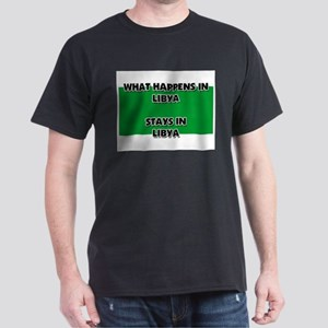 What Happens In LIBYA Stays There Dark T-Shirt
