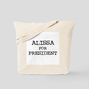 Alissa for President Tote Bag