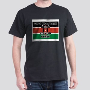 What Happens In KENYA Stays There Dark T-Shirt