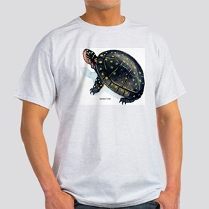 Spotted Turtle (Front) Ash Grey T-Shirt