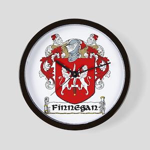 Finnegan Coat of Arms Wall Clock