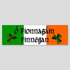 Finnegan in Irish & English Bumper Sticker