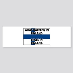 What Happens In FINLAND Stays There Sticker (Bumpe