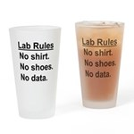 Lab Rules Drinking Glass