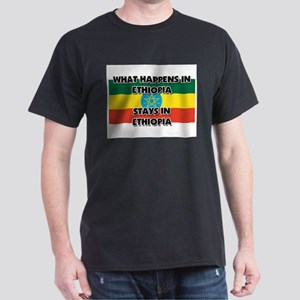 What Happens In ETHIOPIA Stays There Dark T-Shirt