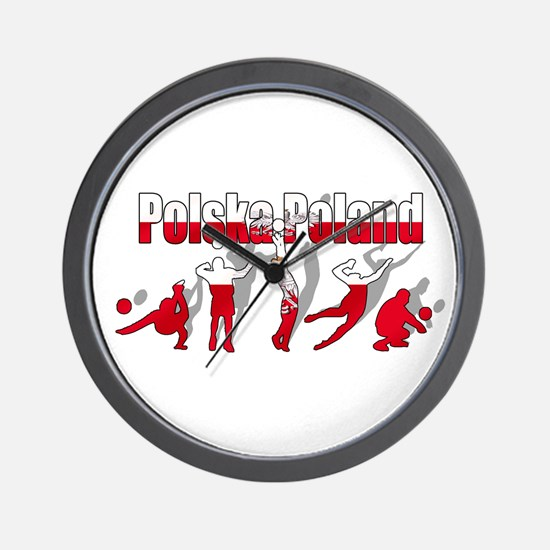 Poland Volleyball Wall Clock