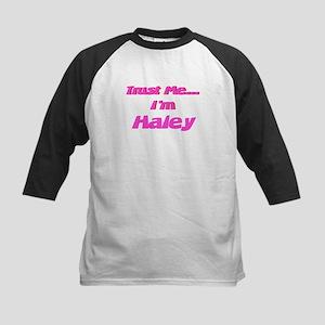 Trust Me I'm Haley Kids Baseball Jersey