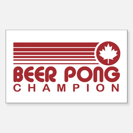 Canadian Beer Pong Rectangle Decal