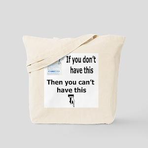 Safe Sex Condom Use Tote Bag