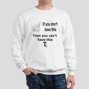 Safe Sex Condom Use Sweatshirt