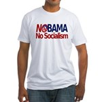 NObama, No Socialism Fitted T-Shirt