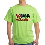 NObama, No Socialism Green T-Shirt
