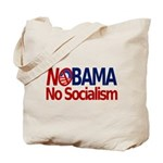 NObama, No Socialism Tote Bag