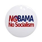 NObama, No Socialism Ornament (Round)