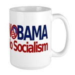 NObama, No Socialism Large Mug