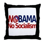 NObama, No Socialism Throw Pillow