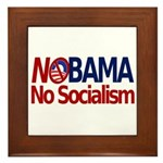 NObama, No Socialism Framed Tile