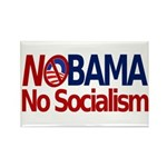 NObama, No Socialism Rectangle Magnet (10 pack)