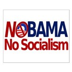 NObama, No Socialism Small Poster