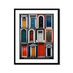 Doors of County Cork Framed Panel Print