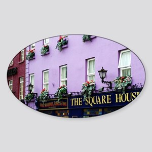 The Square House Oval Sticker